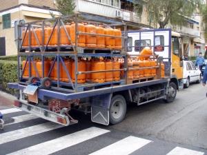 camión reparto diario butano